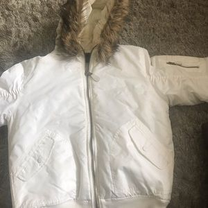 Winter white bomber jacket - FIRS LIKE A M/L